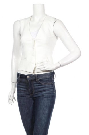 Vestă de femei Zara, Mărime XS, Culoare Alb, 74% poliester, 19% viscoză, 7% elastan, Preț 72,63 Lei