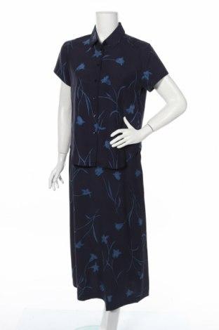 Дамски костюм Jones New York, Размер M, Цвят Син, 100% коприна, Цена 39,66лв.