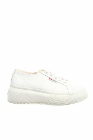 Γυναικεία παπούτσια Superga, Μέγεθος 38, Χρώμα Λευκό, Γνήσιο δέρμα, Τιμή 31,73€