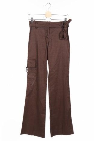 Дамски панталон BCBG Max Azria, Размер S, Цвят Кафяв, 62% лен, 36% памук, 2% еластан, Цена 52,80лв.