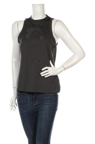 Γυναικείο αμάνικο μπλουζάκι Adidas, Μέγεθος M, Χρώμα Γκρί, 90% πολυεστέρας, 10% ελαστάνη, Τιμή 22,20€