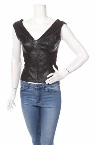 Дамски потник Harley- Davidson, Размер M, Цвят Черен, Естествена кожа, полиамид, еластан, Цена 56,16лв.