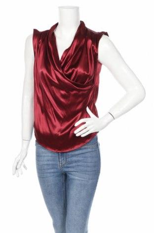 Дамски потник Max Mara, Размер S, Цвят Червен, 52% коприна, 44% вискоза, 4% еластан, Цена 70,20лв.