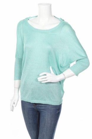 Γυναικείο πουλόβερ Amisu, Μέγεθος M, Χρώμα Πράσινο, 74% βισκόζη, 17% πολυεστέρας, 9% μεταλλικά νήματα, Τιμή 17,63€