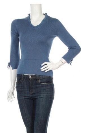 Γυναικείο πουλόβερ Ann Taylor, Μέγεθος XS, Χρώμα Μπλέ, 75% μετάξι, 20% βαμβάκι, 5% κασμίρι, Τιμή 34,99€