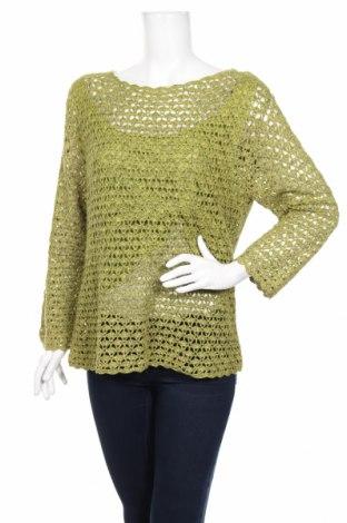 Γυναικείο πουλόβερ Norton Mc Naughton, Μέγεθος L, Χρώμα Πράσινο, 57% ραμί, 43% βαμβάκι, Τιμή 28,94€