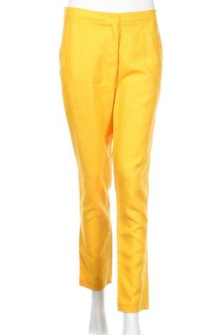 Дамски спортен панталон Sisley, Размер M, Цвят Жълт, Цена 16,91лв.