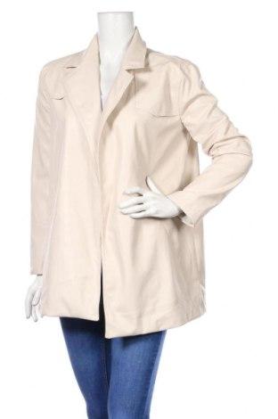 Дамско кожено сако Nasty Gal, Размер XS, Цвят Бежов, Еко кожа, Цена 53,28лв.