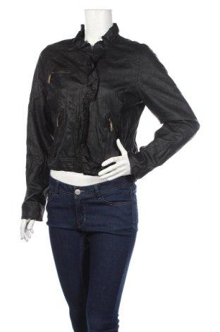 Dámská kožená bunda , Rozměr L, Barva Černá, Eko kůže, Cena  687,00Kč