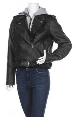 Γυναικείο δερμάτινο μπουφάν Superdry, Μέγεθος L, Χρώμα Μαύρο, Δερματίνη, Τιμή 67,04€
