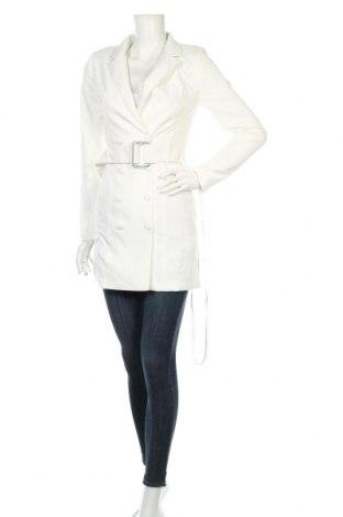 Dámský kabát  Missguided, Rozměr XXS, Barva Bílá, 90% polyester, 10% elastan, Cena  1017,00Kč