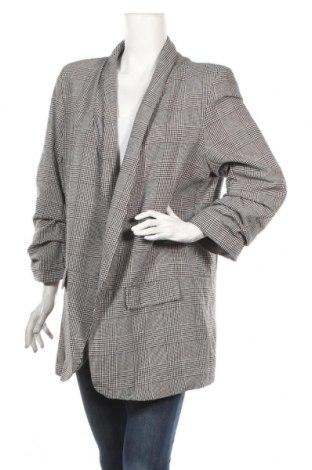 Дамско сако Boohoo, Размер 3XL, Цвят Сив, 70% памук, 30% полиестер, Цена 42,48лв.