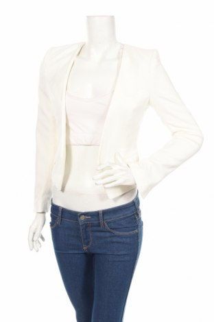 Дамско сако H&M, Размер XXS, Цвят Екрю, 5% полиестер, 33% вискоза, 2% еластан, Цена 27,00лв.