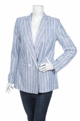 Дамско сако Springfield, Размер L, Цвят Син, 50% памук, 25% лен, 25% вискоза, Цена 46,72лв.