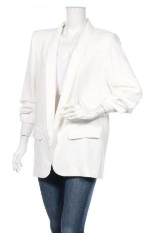 Sacou de femei Zara, Mărime XL, Culoare Alb, 95% poliester, 5% elastan, Preț 102,63 Lei