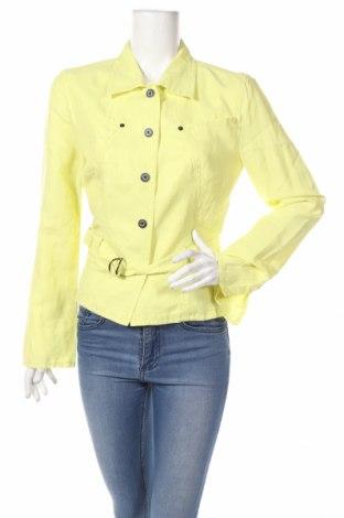 Дамско яке Marc Cain, Размер L, Цвят Жълт, 52% вискоза, 26% лен, 22% памук, Цена 153,14лв.