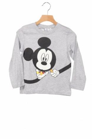 Bluză de copii Disney, Mărime 4-5y/ 110-116 cm, Culoare Gri, 92% bumbac, 8% poliester, Preț 63,16 Lei