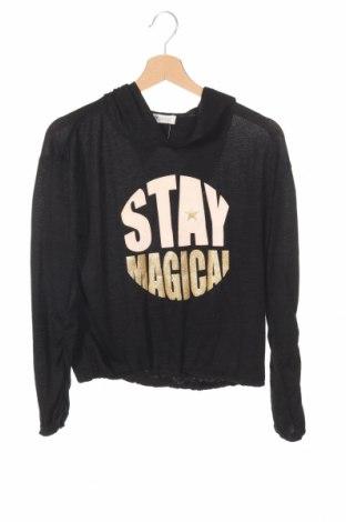 Bluză de copii H&M, Mărime 12-13y/ 158-164 cm, Culoare Negru, 73% viscoză, 22% poliester, 5% elastan, Preț 62,67 Lei