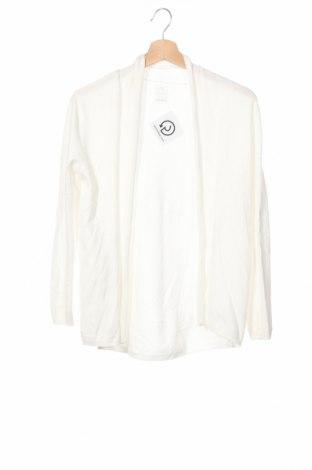 Детска жилетка Zara, Размер 13-14y/ 164-168 см, Цвят Бял, 70% вискоза, 30% полиамид, Цена 34,99лв.