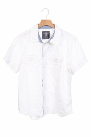 Детска риза H&M L.o.g.g, Размер 11-12y/ 152-158 см, Цвят Бял, 55% лен, 45% памук, Цена 25,74лв.