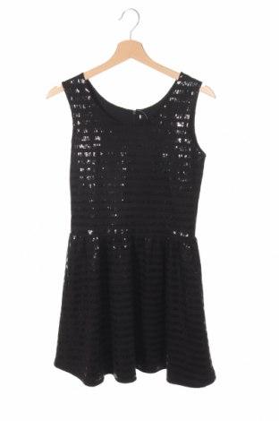 Detské šaty , Veľkosť 12-13y/ 158-164 cm, Farba Čierna, 62% polyester, 36% bavlna, 2% elastan, Cena  13,34€