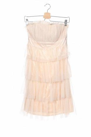 Detské šaty  Oodji, Veľkosť 14-15y/ 168-170 cm, Farba Béžová, Polyester, Cena  10,55€
