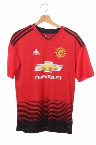 Detské tričko Adidas, Veľkosť 14-15y/ 168-170 cm, Farba Červená, Polyester, Cena  16,73€