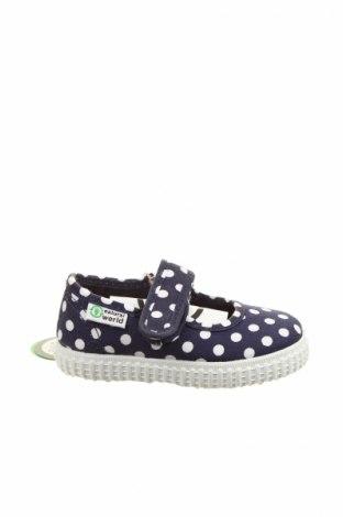 Detské topánky  Natural World, Veľkosť 19, Farba Modrá, Textil, Cena  20,51€