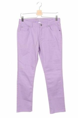 Детски панталон Total Girl, Размер 13-14y/ 164-168 см, Цвят Лилав, 83% памук, 16% полиестер, 1% еластан, Цена 24,70лв.