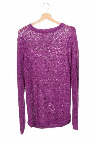 Детски пуловер Y.F.K., Размер 15-18y/ 170-176 см, Цвят Лилав, 65% акрил, 35% полиамид, Цена 8,40лв.