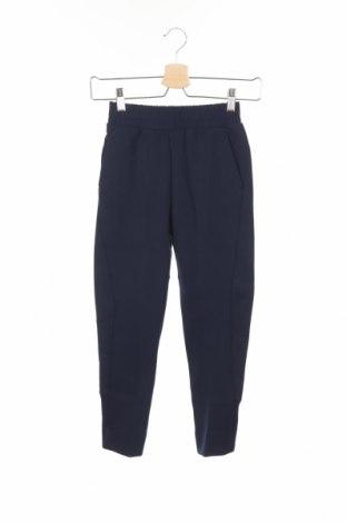 Pantaloni trening de copii Adidas, Mărime 6-7y/ 122-128 cm, Culoare Albastru, 67% bumbac, 33% poliester, Preț 92,84 Lei