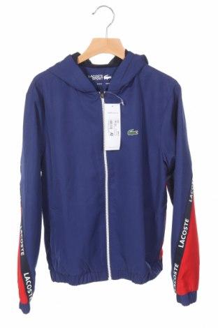 Detská športová bunda  Lacoste, Veľkosť 10-11y/ 146-152 cm, Farba Modrá, Polyester, Cena  53,76€