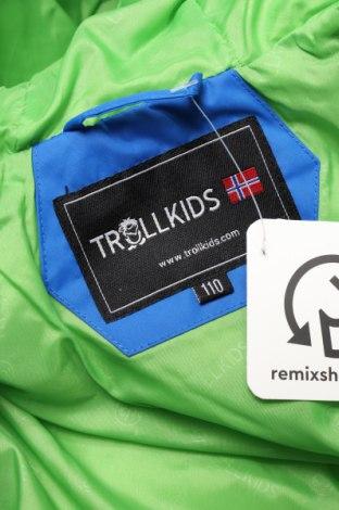 Детско яке за зимни спортове Trollkids, Размер 4-5y/ 110-116 см, Цвят Син, Полиестер, Цена 68,88лв.