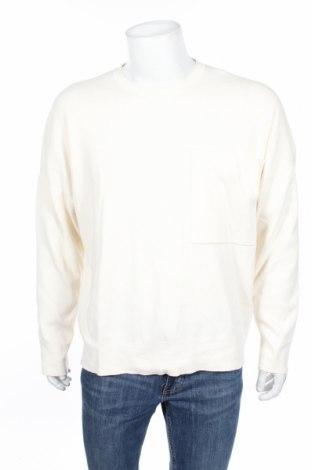 Ανδρική μπλούζα Zara, Μέγεθος L, Χρώμα Εκρού, 80% βαμβάκι, 20% πολυαμίδη, Τιμή 5,81€