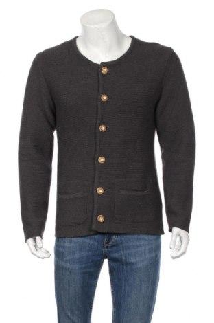 Jachetă tricotată de bărbați, Mărime M, Culoare Gri, 60% bumbac, 40% poliester, Preț 81,23 Lei