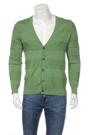Jachetă tricotată de bărbați H&M, Mărime M, Culoare Verde, 100% bumbac, Preț 87,74 Lei