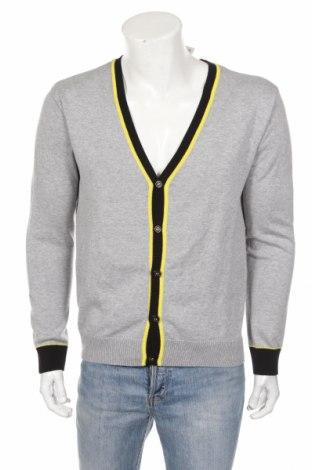 Jachetă tricotată de bărbați John Devin, Mărime L, Culoare Gri, 50%acril, 50% bumbac, Preț 84,49 Lei