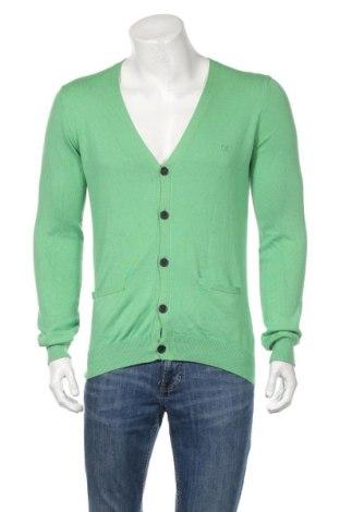 Jachetă tricotată de bărbați Minimum, Mărime M, Culoare Verde, 40% viscoză, 30% bumbac, 30% poliamidă, Preț 159,22 Lei