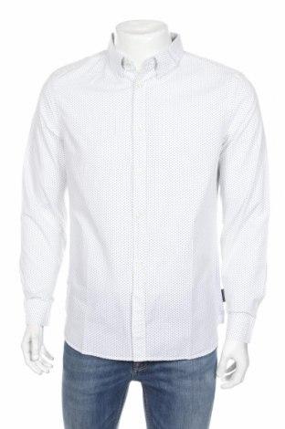 Мъжка риза French Connection, Размер L, Цвят Бял, Памук, Цена 74,12лв.