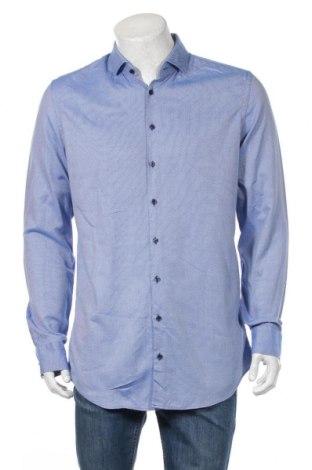 Ανδρικό πουκάμισο Jake*s, Μέγεθος L, Χρώμα Μπλέ, Βαμβάκι, Τιμή 8,35€
