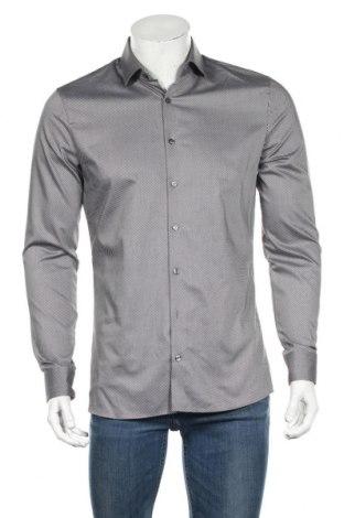 Мъжка риза Olymp, Размер M, Цвят Черен, 97% памук, 3% еластан, Цена 25,60лв.