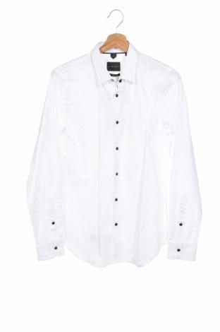 Мъжка риза Sisley, Размер M, Цвят Бял, Памук, Цена 53,40лв.