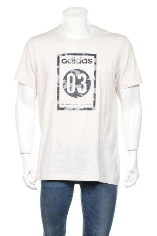 Мъжка тениска Adidas, Размер M, Цвят Сив, Памук, Цена 56,88лв.