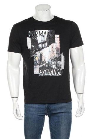 Tricou de bărbați Armani Exchange, Mărime L, Culoare Negru, 60% bumbac, 40% modal, Preț 151,76 Lei