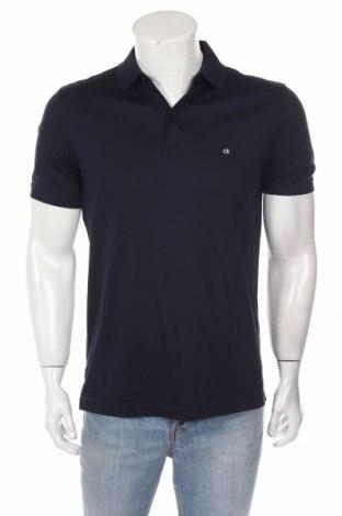 Tricou de bărbați Calvin Klein, Mărime M, Culoare Albastru, Bumbac, Preț 157,53 Lei