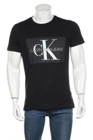 Tricou de bărbați Calvin Klein Jeans, Mărime L, Culoare Negru, Bumbac, Preț 173,68 Lei