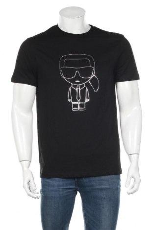 Мъжка тениска Karl Lagerfeld, Размер M, Цвят Черен, Памук, Цена 104,30лв.