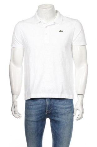 Tricou de bărbați Lacoste, Mărime M, Culoare Alb, Bumbac, Preț 130,26 Lei