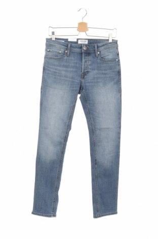 Мъжки дънки Jack & Jones, Размер S, Цвят Син, 70% памук, 28% полиестер, 2% еластан, Цена 69,00лв.