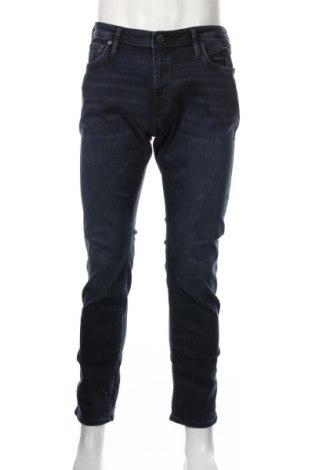 Мъжки дънки Jack & Jones, Размер L, Цвят Син, 80% памук, 10% еластан, Цена 42,72лв.